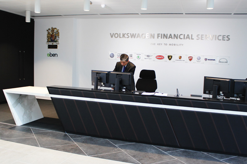 VW HQ Reception Counter